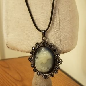 Cameo On Rope Necklace